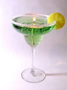 Margarita gel candle by FlickeringWicks on Etsy, $7.00