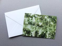Green Abstract Watercolour - A6 Charity Greetings Cards