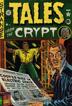 EC Comics - Tales from the Crypt., art by Al Feldstein. Vintage Comic Books, Vintage Comics, Comic Books Art, Comic Art, Creepy Comics, Horror Comics, Horror Art, Horror Posters, Book Cover Art