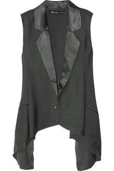 Elizabeth and James Satin-trimmed jersey vest