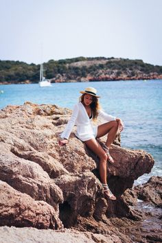 Daydreaming in Corsica with The Marcy Stop wearing our LOVESTRUCK Romper | L*Space