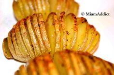 Pommes de terre à la suédoise Four 180°, beurre entre interstices, fleur de sel…