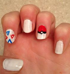 I made Pokemon nails aren't they awesome;)