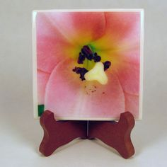 Handcrafted Photo Coaster Photo Plaque Flower Heart 0021C