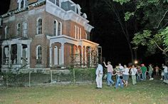 Take a guided tour takes place at the notorious McPike Mansion in Alton, Illinois, on the Meeting of the Great Rivers Scenic Route.