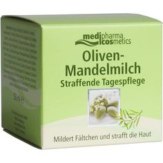 OLIVEN-MANDELMILCH straffende Tagespflege:   Packungsinhalt: 50 ml Tagescreme PZN: 04768809 Hersteller: Dr. Theiss Naturwaren GmbH Preis:…