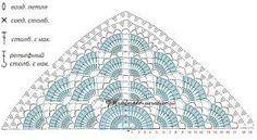 Resultado de imagen de схема шали бабушкин квадрат