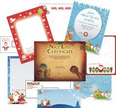 All the Santa letters here have matching Nice List certificates. dear santa, christma thing, christma stuff, holiday printabl, santa letter, christma time, christma photo, christma freebi, 2013 xmas