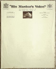 """HMV, 1933 