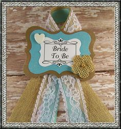Bride To Be Bridal Shower Corsage Bride To Be by BloomingParty