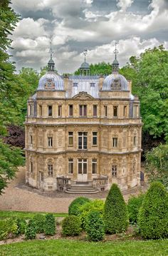 Château de Monte-Cristo, Yvelines, France.  The château was built in 1846 by the architect Hippolyte Durand.  Dumas named it after one of his most successful novels: The Count of Monte Cristo (Le Comte de Monte-Cristo, 1845–1846).