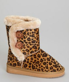 Take a look at this Tan Leopard Lulu Boot by QQ Girl on #zulily today!