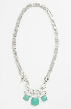 Tildon Crystal Stone Drop Necklace available at #Nordstrom