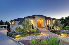 Front of home at twilight in Fremont, CA. Photo was shot for a virtual tour by Justin Adams of Inc. Justin Adams, Real Estate Photographer, Virtual Tour, Twilight, California, Tours, Mansions, House Styles, Photography