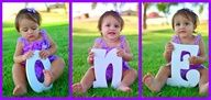 Pose = Baby Beside a Giant Cardboard  Birth Year Numeral Each Year