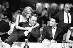 Elvis with Nancy and Frank Sinatra.
