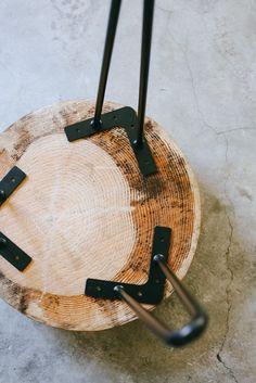 Quick DIY: Wood Slice Coffee Table