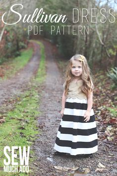 A Sullivan Dress for Christmas - such a darling girl's dress pattern!