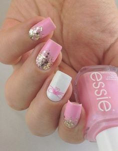 Pink And White Nails Desgins For This Season   Pretty 4 #SummerNails