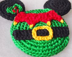 Mickey Mouse Minnie Mouse crochet pattern, Christmas Elf, christmas decoration, home decoration