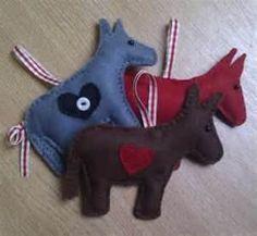 Felt donkeys