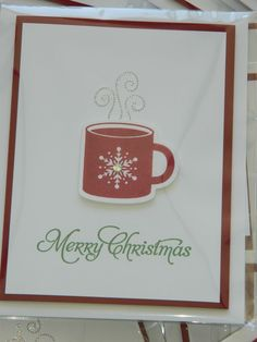 Love the CAS look of Stella's Scentsational & Holiday framelits card!