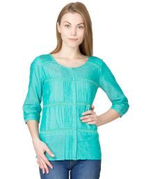 Latin Quarters Chambray Top