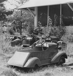 Gone are the shrieks of excitement as kiddie cars sit rusting among the weeds of Riverside Amusement Park in the 1971 file photo.  The park closed in 1970.