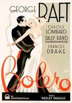 Bolero movie poster, 1934 - art deco typo are the new trend