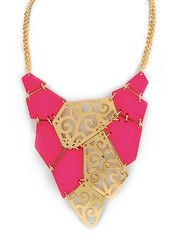 Pink Tectonic Necklace