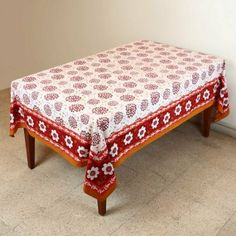 Tablecloth Rectangular 152 X 228 Table Decorations Fall Floral Cotton: Amazon.co.uk: Kitchen & Home