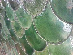 fish scale tiles at longrain (melbourne restaurant) - photo by martin young via… Fish Scale Tile, Melbourne Restaurants, Cafe Concept, Sea Dream, God Is Amazing, Fish Scales, Fish Tail, Restaurant Photos, Dream Beach Houses