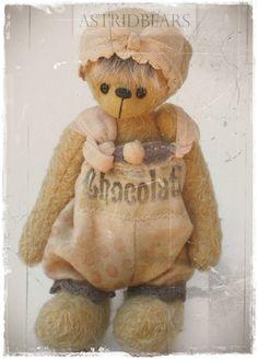 bear pattern Emilia by ASTRIDBEARS - PDF artist bear epattern. $13.00, via Etsy.