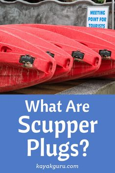 Kayak Accessories Guide to Scupper Plugs from Kayak Guru - Why do we have Scupper holes on Kayak Decks? And why then do we use plugs to fill them up? Let us explain exactly why you should keep your Scupper Plugs Kayak Fishing Tips, Kayaking Tips, Kayak Camping, Best Fishing, Crappie Fishing, Fishing Gifts, Catfish Fishing, Fishing Basics, Fishing Stuff