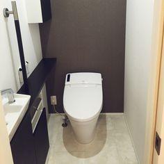 入居前☻/アクセントクロス…などのインテリア実例 - 2015-10-18 23:24:15 Toilet, Bathroom, Interior, Home, Closets, Washroom, Flush Toilet, Indoor, Full Bath