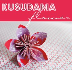 How to: Kusudama Origami Flowers  