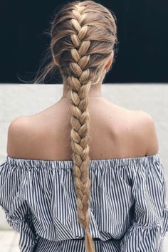 Simple is underrated. Love this simple #classic french braid on @avisuarez ❤️ Learn how to french braid on our Luxy Hair YouTube channel