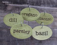 Hand Painted Herb Garden Markers