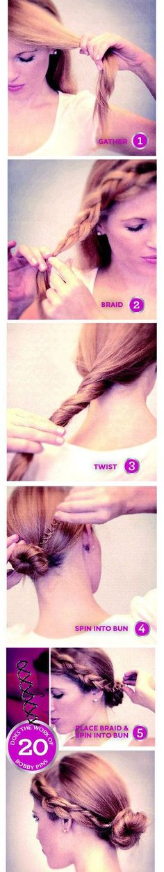 Incorporate a side braid with your bun.