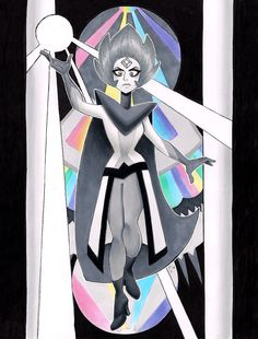 A lot of people are upset over Rocknaldo, so here's some neat art of White Diamond.