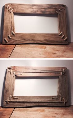 Ahşap çerceve (driftwood) 50$ Barn Wood Picture Frames, Picture On Wood, Barn Board Projects, Wood Projects, Frame Crafts, Wood Crafts, Driftwood Furniture, Wood Mirror, Wood Creations