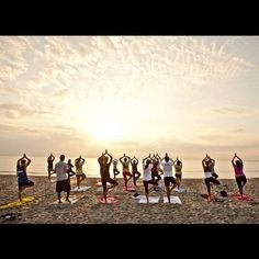 It's Throwback Thursday! Here's a photo from when Student Life had a trip to the beach for Sunrise Yoga! #tbt #yoga #fitness #pose #beach #boca #lynning
