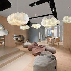 Nordic Clouds Pendant Lights Silk Lamp Dark Clouds Hanglamp Personality Decorate Hanging Light For Hotel Lobby Restaurant Wicker Lamp Shade, Cloud Lamp, Cloud Ceiling, Cloud Lights, Diy Cloud Light, Modern Pendant Light, Luz Led, Chandelier Lighting, Salon Lighting