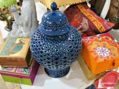 The Junk House Blog spotted this ginger jar at her local HomeGoods. We love the color!