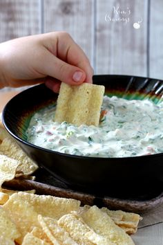 Made up of mostly Greek yogurt and veggies, there's no need to feel guilty about polishing off an entire bowl of this dip!