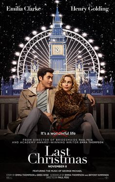 LAST CHRISTMAS Trailer + Poster A romantic comedy inspired by a George Michael beat stars Emilia Clarke, Henry Golding, Michelle Yeoh, Emma Thompson Michelle Yeoh, Emma Thompson, George Michael, Holiday Movie, Christmas Movies, Christmas 2019, Christmas Poster, Holiday Song, Films Hd