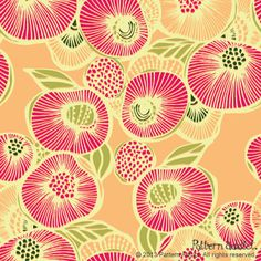 PATTERN ADDICT'S DESIGN GARDEN BLOG.  Not sure if this is a fabric design or just a lovely picture the designer drew.  It's so cheerful.