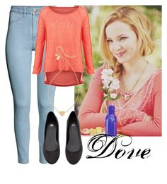 """Dove Cameron"" by deedee-pekarikhihiha ❤ liked on Polyvore featuring H&M, V London and Kate Spade"