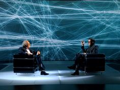Spain's channel from Catalonia aired in November 2011 a series of two special interview programs with the scientist and tv-icon Eduard Punset and the humorist… Tv Set Design, Stage Set Design, Design Ideas, Virtual Studio, Ard Buffet, Tv Icon, Live Television, Church Stage, 3d Video