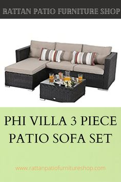 👉 Upgrade Wicker Rattan – Using all weather reinforced wicker, it is more lightweight and solid compared with other rattan. The unique color shows exquisite details, each place reveals a unique style and flavor 💺Combination – This sectional wicker furniture set comes with 1 corner sofa w/cushion, 1 double sofas w/cushions, and 1 table with tempered glass 🎁 Exquisite Comfort – Water resistant cushions filled with thick sponge for optimal comfort and relaxation. Rattan Furniture, Furniture Sets, Outdoor Furniture, Outdoor Decor, Cushion Filling, Corner Sofa, Unique Colors, Sofa Set, Decorating Your Home